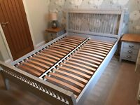 """Marks and Spencer Padstow 4'6"""" double bed, putty (soft grey)"""