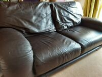 Leather sofa two seater