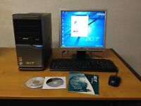 Acer Desktop PC - Veriton M460 Computer System with Monitor, Keyboard and Mouse - Great Condition