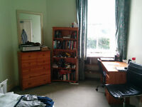 Double room available in quiet three-bedroom flat, Dalkeith Road
