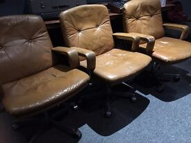 3 Retro Office Chairs