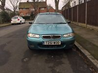 Rover 200 for sale, MOT, low mile age, sunroof, drives really well.