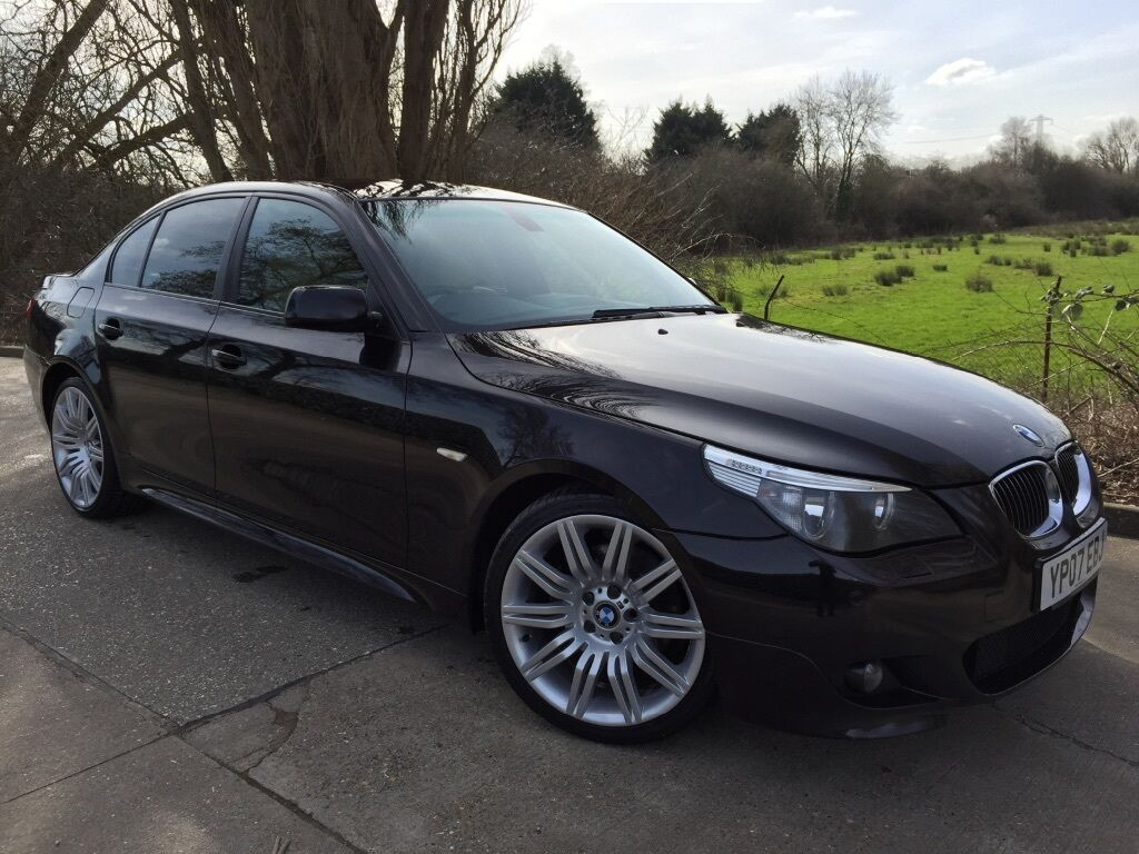 bmw 530d m sport auto individual e60 2007 rare colour ruby black sat nav heated seats hpi. Black Bedroom Furniture Sets. Home Design Ideas