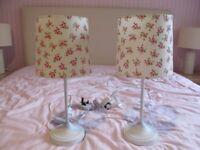 Two Bedside Tablelamps
