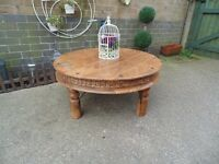 STUNNING EXTRA LARGE SHESHAM JALI ROUND COFFEE TABLE EXTREMELY HEAVY TABLE IN EXCELLENT CONDITION