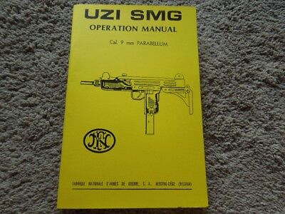 Israeli UZI, FN Belgium 9mm Operation Collector Book  46 Pages - Uzi 9mm