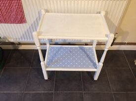 Shabby chic vintage trolley shelf unit