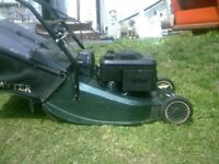 HAYTER 48 ELECTRIC AND PULL START MOWER +BOX SELF PROPELLED