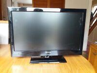 Black 24in Panasonic HD LED TV 1080p