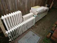 9 victorian cast iron radiators joblot for sale