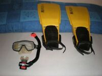 Strap on fins mask and Snorkel