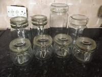 Glass - Storage Jars x 8