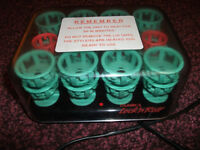CLAIROL VINTAGE LOCK N ROLL 24 HEATED HAIR ROLLERS CURLERS