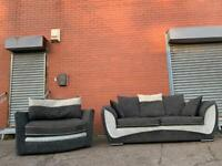 Beautiful Grey & White SCS sofa set delivery 🚚 sofa suite couch furniture