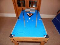 6 in 1 Pool / Football Games Table