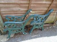 Cast Iron bench ends x two sets