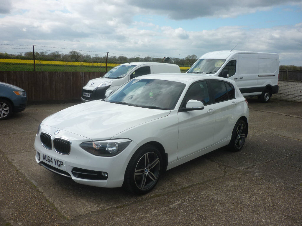 bmw 1 series 2 0 120d sport sports hatch 5dr start stop auto white 2014 in hethersett. Black Bedroom Furniture Sets. Home Design Ideas