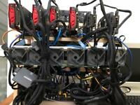 12 GPU Graphics Card (RX580 8GB) mining rig