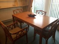 Marks and Spencer dining table 4 chairs