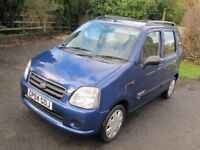 SUPERB SUZUKI WAGON R+ MPV, 1.3 GL, ONLY 49000 MILES FROM NEW, 60MPG, NEW MOT, PART-EXCHANGE WELCOME