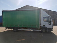 Iveco 75E17 7.5 t Curtain side with tail lift