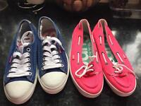 Superdry shoes ladies size 7 two pairs