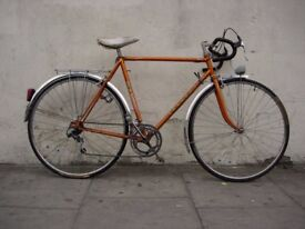 Vintage Mens Road/ Racing/ Commuter Bike by Peugeot, Orange, All Original,JUST SERVICED/CHEAP PRICE!
