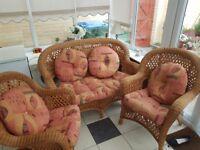 4 seat conservatory cane furniture set