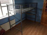 High sleeper bed tubular steel