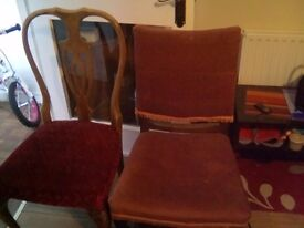 Solid wood chairs £15