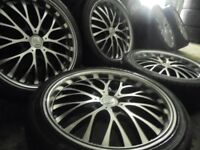 18inch genuine bk deep dish bbs alloys wheels audi a4 a6 a8 a3 5x112 golf vw caddy t4 t3 transporter