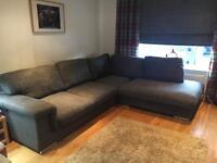 Large Charcoal Grey Corner Sofa