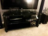 Black Gloss Corner TV Unit
