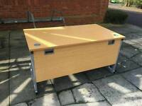Office tables and chairs x 6