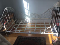 Folding French antique single bed/settee