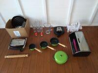 Cast Iron Saucepan Set / Casserole Dish & Job Lot Of Kitchenware - Kitchen cookware & appliances