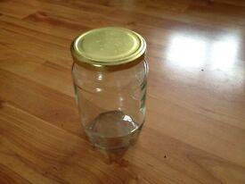Glass Jars - 14cm high