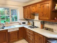 Solid pine door kitchen.