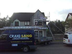 CRAIG LANG- Roof & Chimney Repairs,Plastering,Roughcasting.