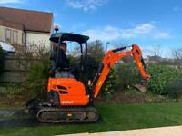 Micro and mini digger hire and other plant available