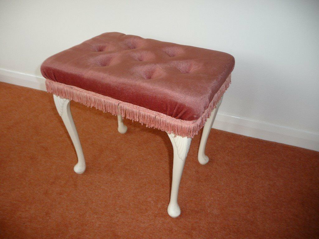 PINK DRESSING TABLE STOOL