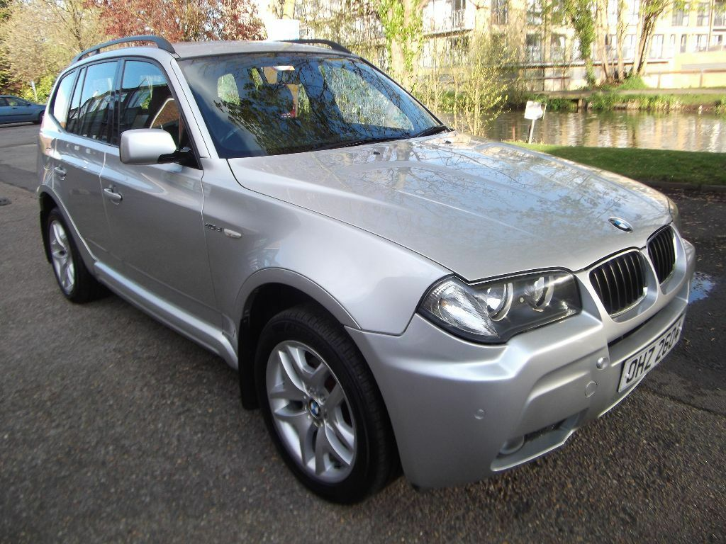 2008 bmw x3 2 0d m sport full black leather silver 6 speed manual