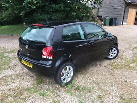 VW POLO Match 1.2 62,000 miles in black 3 door