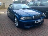 E46 BMW 2.5i 323Ci M Sport Automatic Convertible in Dark Blue - Great Convertible for Summer!