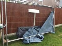 •Used• Heras Style Temporary Metal Fence Used Site security fencing panels