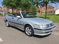 SAAB SE 9-3 TURBO ** CONVERTIBLE ** 10 SERVICE STAMPS