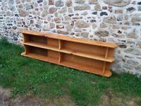 Lovely light oak bookshelves