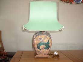 Ceramic Table Lamp and Shade.