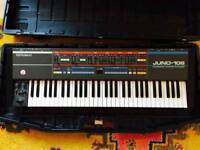Roland Juno 106 synthesizer w/ original hard case