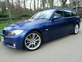 BMW 320D M SPORT TOURING 2008 57'REG**AUTO/TIPTRONIC**FSH**PAN-ROOF**PRISTINE CONDITION**#530D#520D